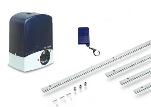 Μοτέρ για συρόμενες αυλόπορτες έως 500 κιλά Genius Falcon m5 Basic Kit