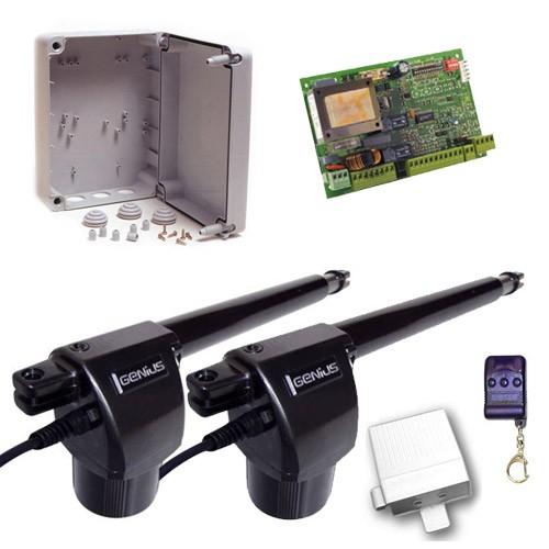Μηχανισμός για δίφυλλες ανοιγόμενες πόρτες Genius EuroBat 400 Basic Kit 2L-2