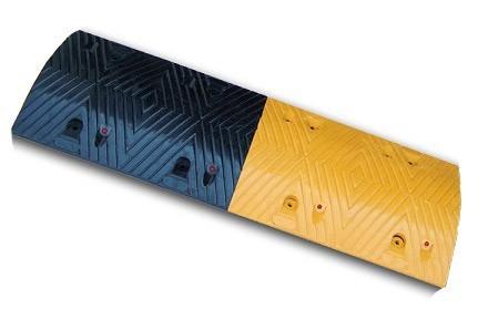 Σαμαράκι δρόμων από ελαστικό με μήκος 100cm x πλάτος 35cm x ύψος 5cm (μεσαίο τμήμα μαύρο-κίτρινο) KSR-215-M