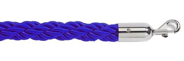 Σχοινί πλεγμένο nylon μήκους 150cm μπλε χρώματος με ασημί γάντζους NBLS-150