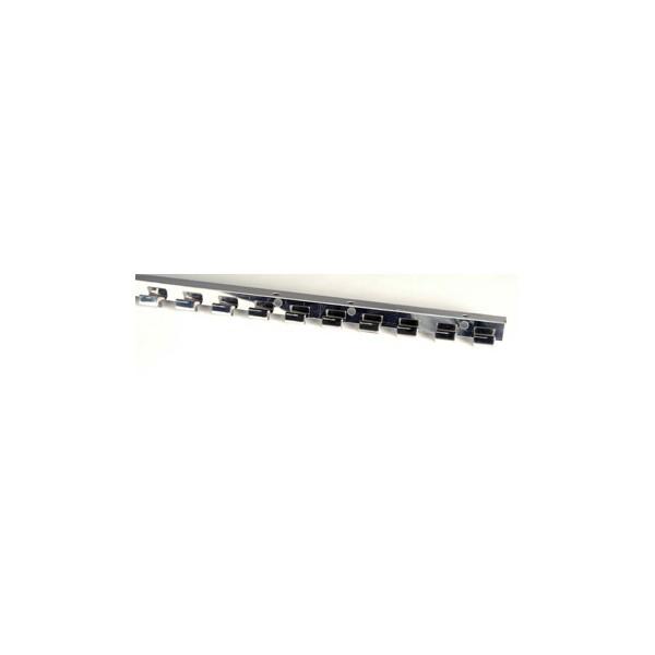 Ράγα INOX για λωρίδες PVC τύπου ESC-T (τιμή ανά μέτρο)