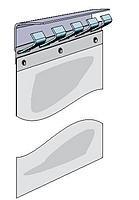 Λωριδοκουρτίνα PVC Blue-Soft 300x3mm με επικάλυψη 46mm (τιμή ανά m²)