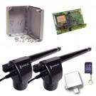 Μηχανισμός για δίφυλλες ανοιγόμενες πόρτες Genius EuroBat 500 Basic Kit 2L-1