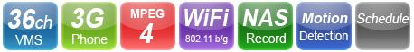 Ασύρματη wifi δικτυακή IP κάμερα παρακολούθησης StarVedia IC202w