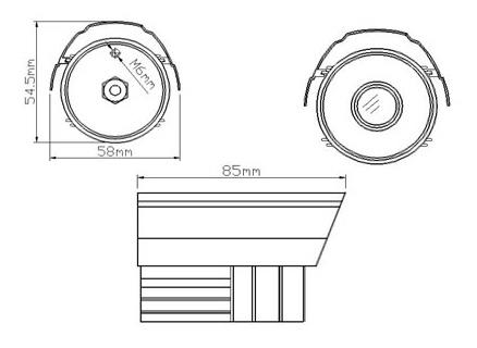 Διαστάσεις κάμερας PAN-420