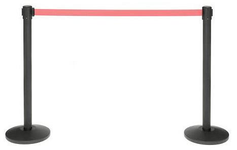 διαχωριστικά κολωνάκια με κόκκινο ιμάντα