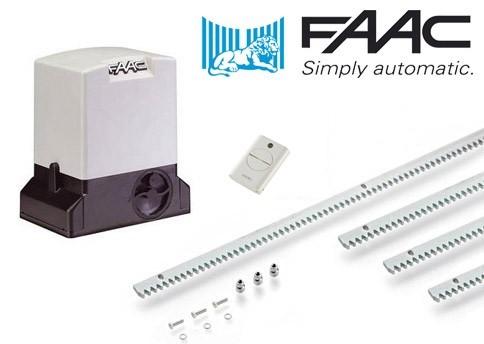 Μοτέρ για συρόμενες γκαραζόπορτες έως 900 κιλά FAAC 741 Basic Kit
