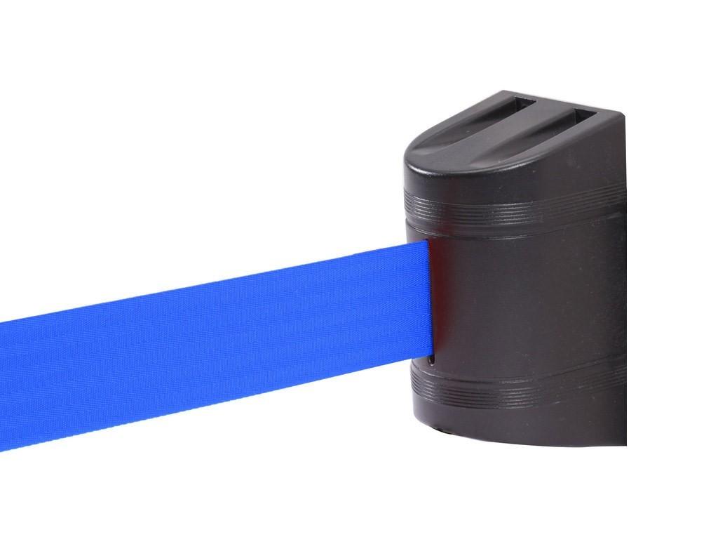 Εκτεινόμενος ιμάντας τοίχου σε μπλε χρώμα μήκους 5m με μαύρο πλαστικό κέλυφος WBB-500