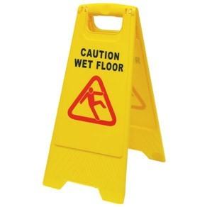 """Πλαστική πινακίδα """"WET FLOOR"""" για ειδοποίηση ολισθηρού δαπέδου KBB-2"""