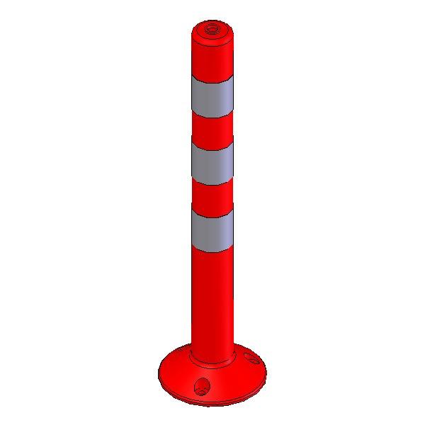 Πλαστικό κολωνάκι σήμανσης ύψους 80cm EDH-FP-80
