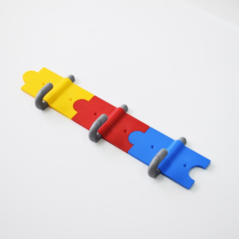 Επιτοίχια αρθρωτή παιδική κρεμάστρα ασφαλείας 3 θέσεων μήκους 45 cm SCH-45
