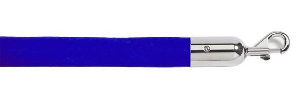 Κορδόνι βελούδινο velvet μήκους 150cm μπλε χρώματος με ασημί γάντζο VBLS-150