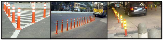 Πλαστικοί οριοδείκτες δρόμων