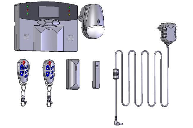 Ασύρματος συναγερμός ασφαλείας FOCUS MTECH FC-300 BASIC KIT